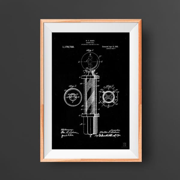 Barber Pole Patent Poster