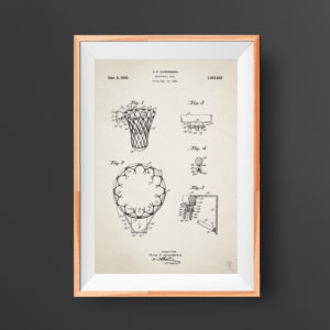 Basketball patent poster