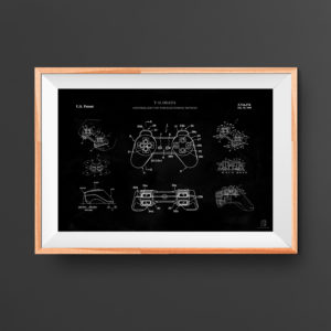 Game controller patent poster