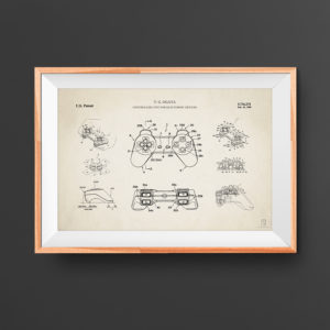 Electronic game controller patent poster