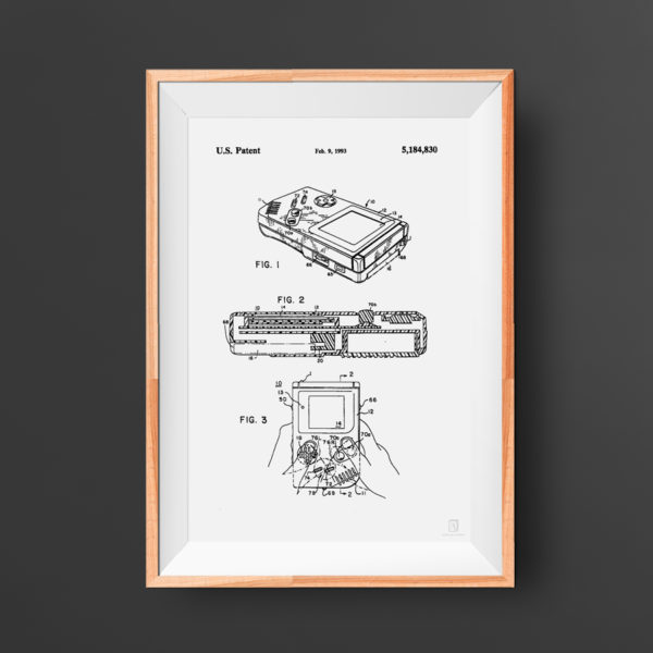 Nintendo Gameboy Patent Poster