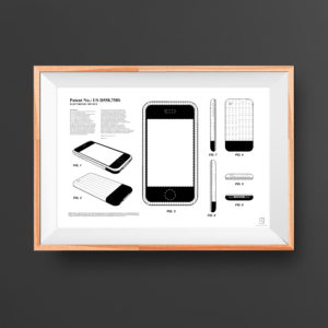 iPhone 2G Patent Poster