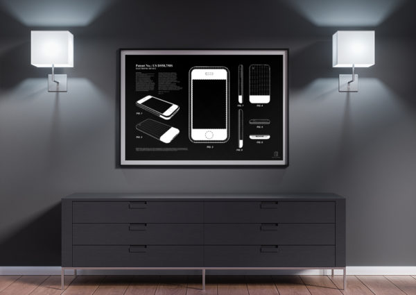 Electronic Device Patent - iPhone Patent Poster - Wall Art