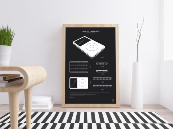 electronic device, patent, poster, ipod, mac, apple, iphone