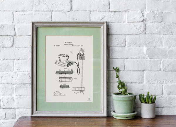Vintage Flat Iron Poster - Home Decor Posters