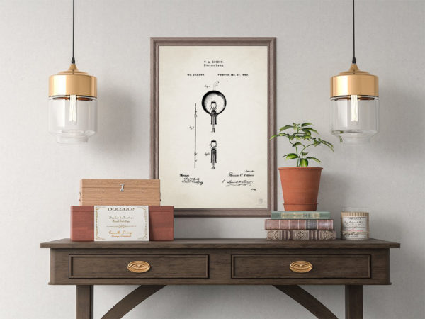 Light Bulb Patent Poster