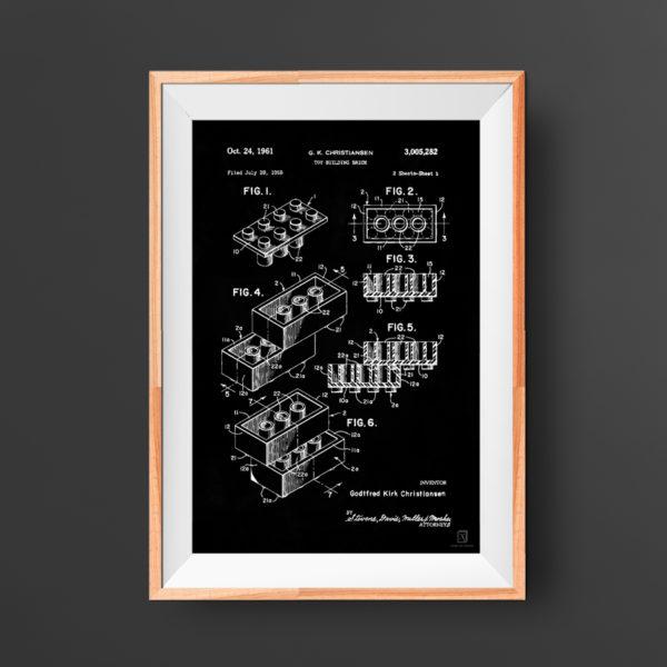 lego, poster, brick, block, patent