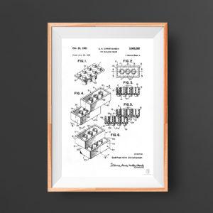 Lego block patent poster