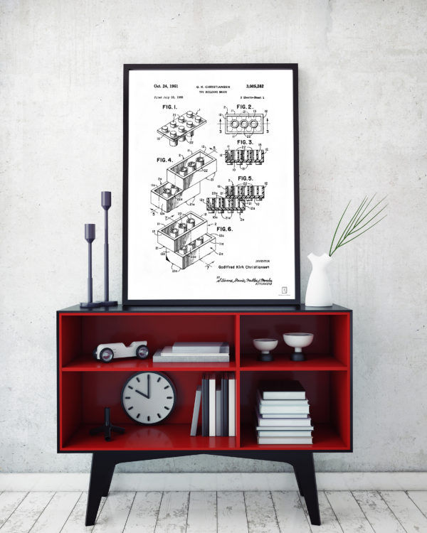 Lego Patent Poster - Kids Room Wall Art Poster