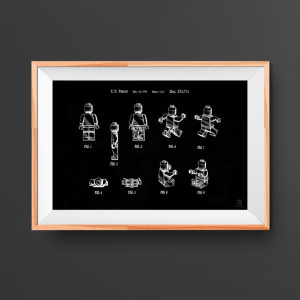 lego, man, patent, poster, kids room poster