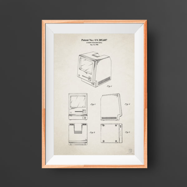 Mac Computer Patent Poster