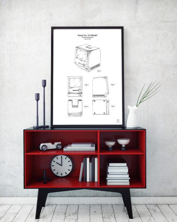 Mac Patent Poster - Wall Art Vintage Steve Jobs Posters