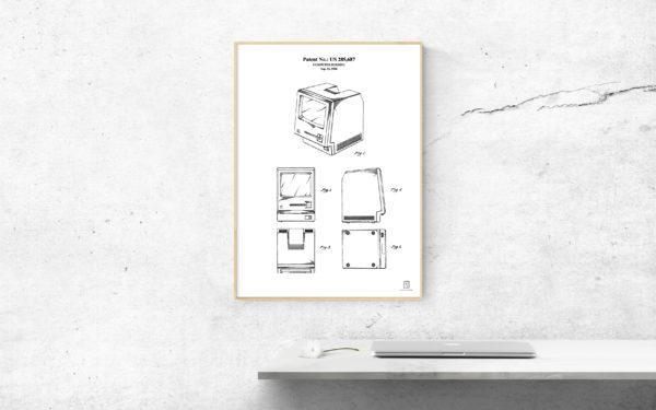 mac, macintosh, computer, patent, wall art, poster