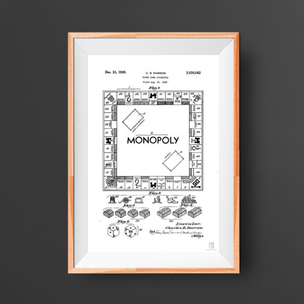 Monopoly Patent Art Poster