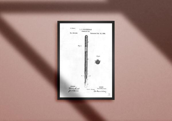 pen, patent, poster, office, gift, wall art, art