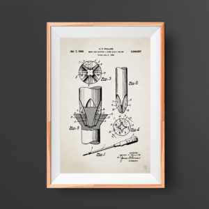 Construction tool patent poster - screw driver