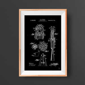Space rocket poster