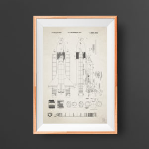 NASA Space Shuttle Patent Poster