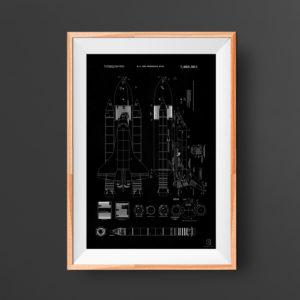 nasa, patent, space shuttle, rocket, poster, wall art