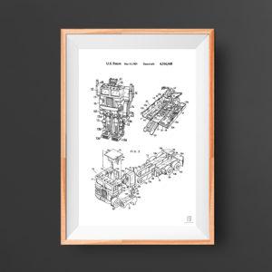 Transformer Patent Poster - Optimus Prime Vintage 1985