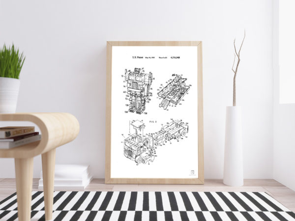 Transformers Toys Patent Wall Art Posters