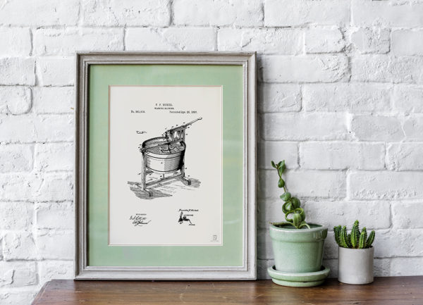 Wall Art Decor For Home Posters Blueprint Patent