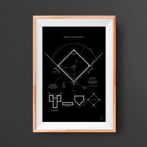 Baseball Field Poster