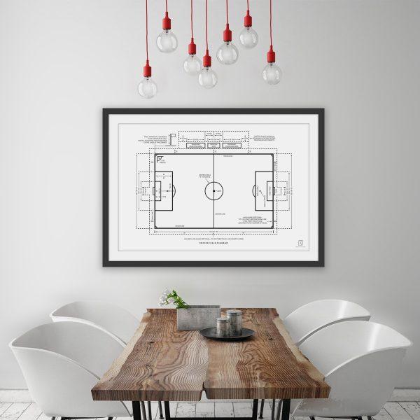 Football Soccer Field Diagram Poster